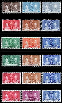 Omnibus 1937 Coronation MH collection 135 stamps