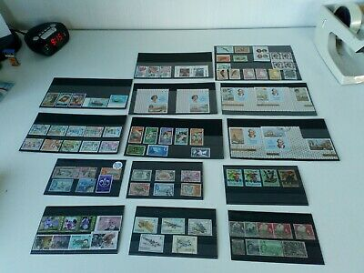 Small lot of Queen Elizabeth Commonwealth stamps on stock cards, Bermuda, Cook +