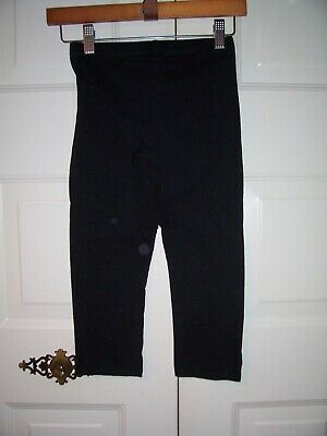 Arizona girl's black cropped leggings size L (14)