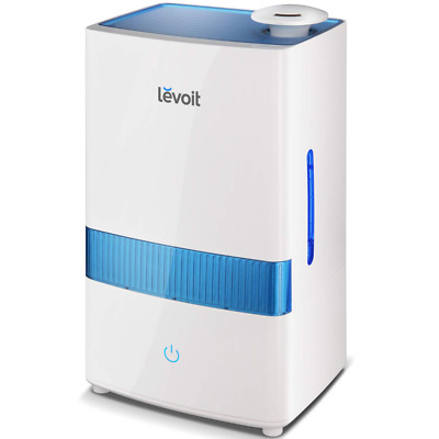 LEVOIT Humidifiers for Bedroom Large Room (5.5L),Warm and Cool Mist, Ultrasonic Vaporizer with Hygrometer and Remote, Customized Humidity, Germ Free