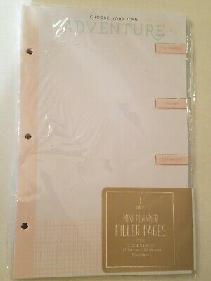 "Mini planner filler pages, fits 7x9.125"" planner weekly monthly and note sheets"