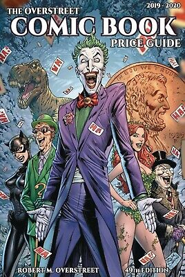 OVERSTREET 2019 2020 COMIC BOOK PRICE GUIDE 49 HARDCOVER Batman Rogues Joker CVR