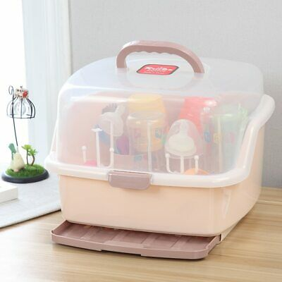 Bottle Drying Rack Baby Feeding Newborn Multifunctional Bottle Storage Box