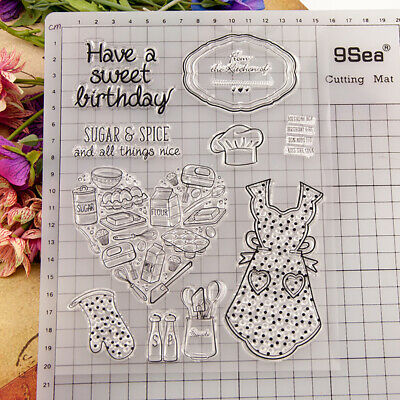 Kitchen Theme Silicone Clear Stamp Rubber Stamps Scrapbook Embossing Stencil
