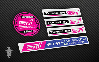 Subaru Impreza Engine Bay Sticker Kit - Radiator Cap | Strut Brace | STI TunedBy