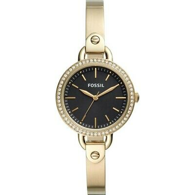 Fossil Women's Classic Minute BQ3425 32mm Black Dial Stainless Steel Watch