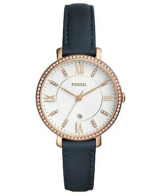 Fossil Women's Jacqueline ES4291 36mm White Dial Leather Watch