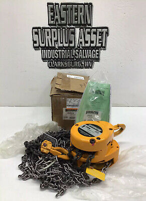 Harrington CF010 Model CF4-0638 1 Ton 12ft Lift Chain Hoist NIB