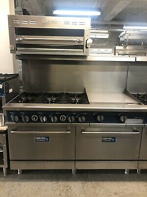 """6 Burner Gas Range With 24"""" Grill And Salamander Included 60"""" Overall"""