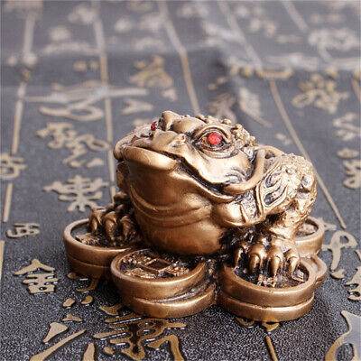 Chinese Feng Shui Lucky Three Legged Money Toad Fortune Frog Home Decor Gifts