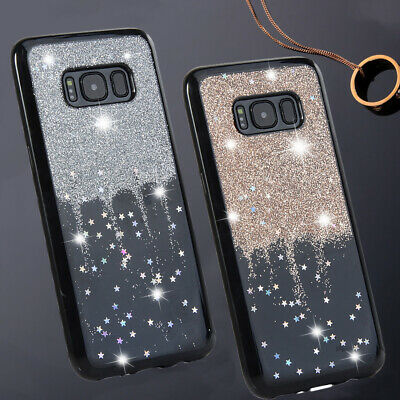 Girl Women Bling Star Cover For Samsung Galaxy S10e S9 Plus S8 S7 Soft TPU Case