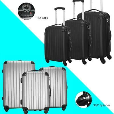 "3 In1 Travel Luggage SuitCase Set Spinner Trolley w/ TSA Lock 20""/24""/28"" NEW"