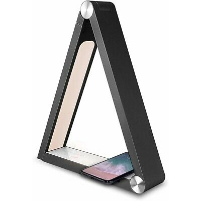 Epicxl 00862 Qi Wireless Charging Triangular Led Desk Lamp Black