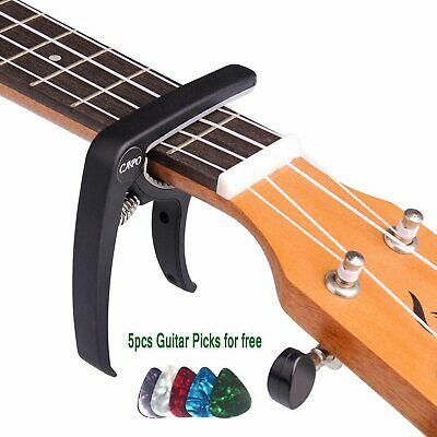 Guitar Tuner Clamp Trigger Capo for Acoustic & Electric & Classical & Banjo