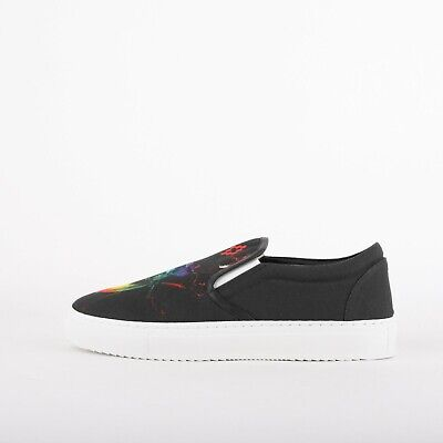 Mens Marcelo Burlon Otitil Black Slip On Trainers (LF1) RRP £225.99