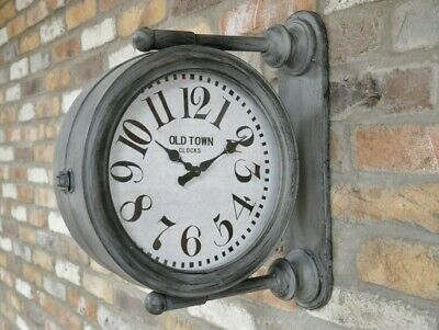 43cm Tall Old Town Clocks Double Sided Wall Mounted Clock (Indoor Only) NEW
