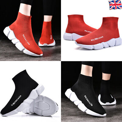 Womens Sneakers Trainers Sock Runners Comfy Speed Knit Gym Casual Shoes Ladies