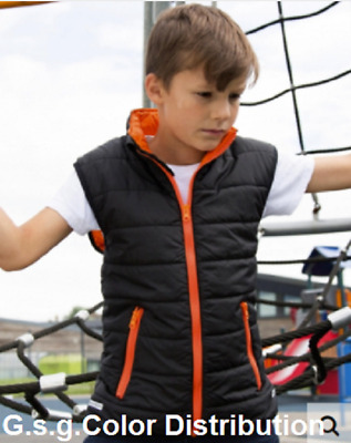 Vest Child Boy Bodywarmer Padded Junior/Youth from 2 a 14 Ages
