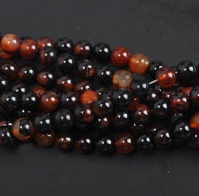 Natural Carnelian Round Gemstone Loose Spacer Stone Beads Jewelry 4/6/8/10/12 MM