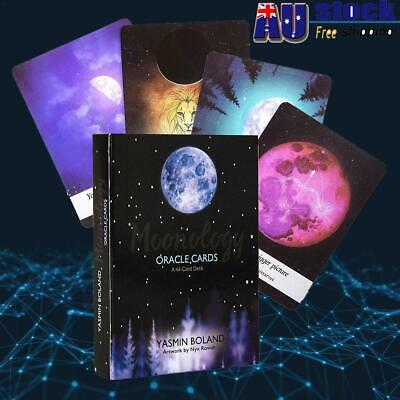 AU! Moonology Oracle Cards: A 44-Card Deck And Guidebook By Yasmin Boland Gift
