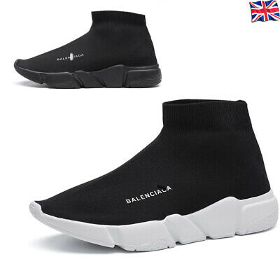 Mens Sock Runner Shoes Knit Speed Womens Trainers Sports High Top Boots Sneakers