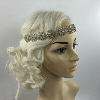 VINTAGE 1920s FLAPPER CRYSTAL HEADBAND GREAT  WEDDING HAIR ACCESSORIES