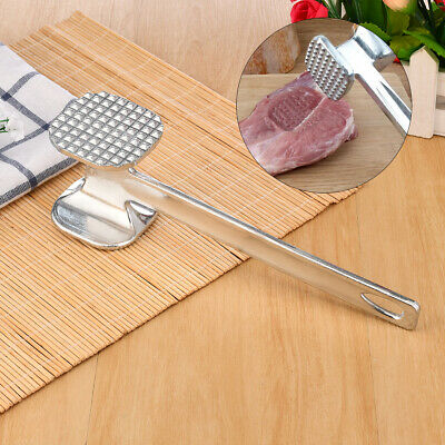 Alloy Loose Tenderizers Meat Hammer Pounders Knock-Sided For Steak Pork Kit B8W4