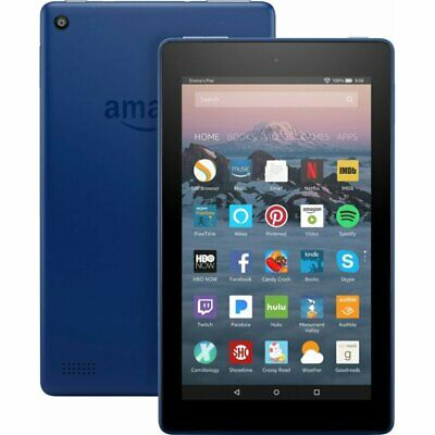 """Amazon - Fire 7 - 7"""" - Tablet - 16GB 7th Generation, 2017 Release - Marine Blue"""