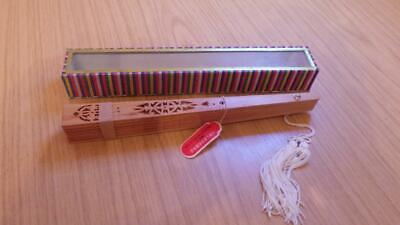 QB229: Wood Folding Hand Fan - Peoples Republic of China - Exc / Boxed