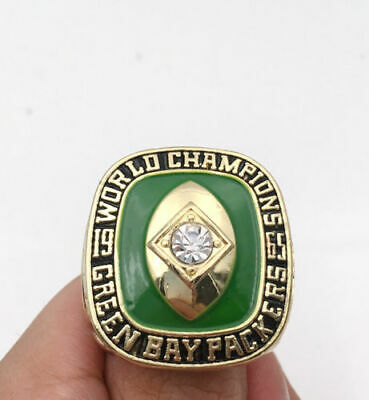 1966 Green Bay Packers Super Bowl Championship Ring 18k Heavy Gold Plated *usa*
