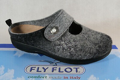 Fly flot Ladies Slippers Mules Slippers Gray