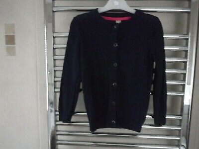 Girls Cardigan Dark Blue TU Age 4-5 Years - Long Sleeved 100% Cotton