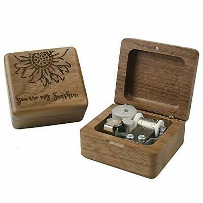 Sinzyo You are My Sunshine Music Box Gift for Walnut Wood Box