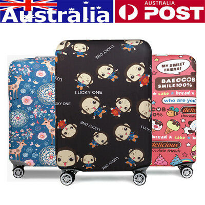 Sika Deer Elastic Luggage Cover Travel Suitcase Protector Dustproof Bag S/M/L/XL