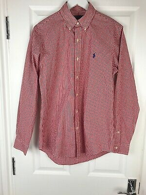 Polo Ralph Lauren Red Check Gingham Mens Shirt Custom Fit S