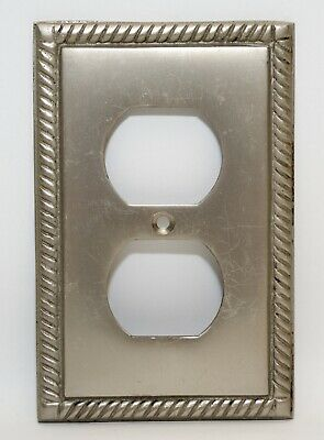 Silver Ornate Cast Iron Electric Wall Outlet Plate Covers
