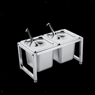 """Anti-Jam Steam Table Pan w/ Lid and Rack Holder 6"""" Deep for Restaurant Hotel"""