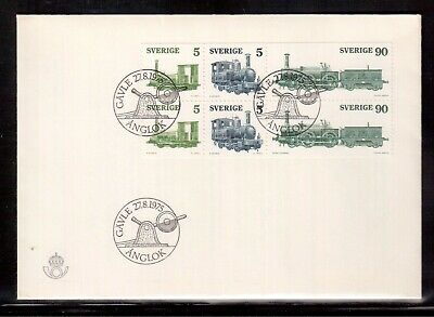 Sweden 1975 First Day Cover, Locomotives !!