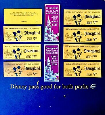 8 Tickets Left $130EACH Both Parks Disneyland And California Adventure Land