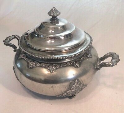 Victorian Silver-plate Footed Tureen Covered Compote