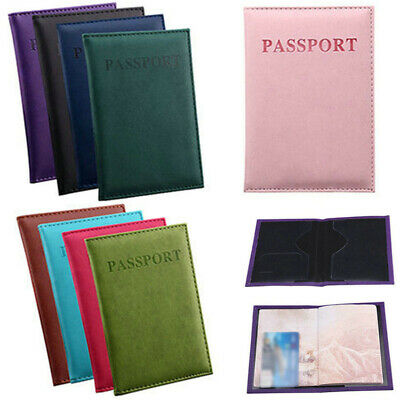 1PC PU Leather Passport Cover Holder Travel Wallet ID Card Case Organizer