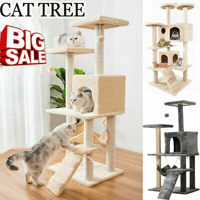 Cat Tree Scratching Post Sisal Activity Centre Climbing Scratcher Bed Tower Toys