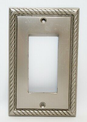 Silver Ornate Cast Iron Electric Wall Light Switch Rocker, Outlet Plate Covers