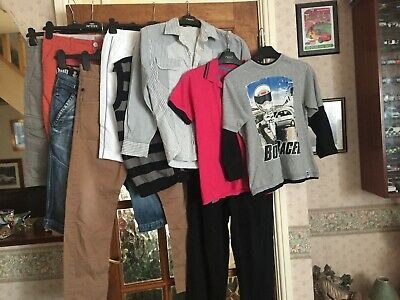 Boys Bundle MANTARAY GEORGE NEXT Trousers Jeans Tops Shirt age 8-11yr x12+ items
