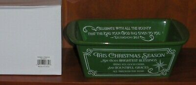Abbey Press Exclusive-Loaf Pan-Christmas Themed-GREEN-with Recipe-Cranberrry....