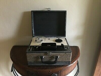 Vintage Olson Portable Tube Reel Tape Recorder Tested Works Japan