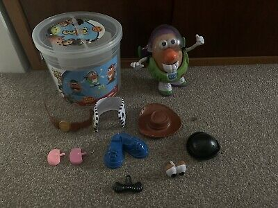 Toy Story Mr Potato Head Woody & Buzz Lightyear (incomplete- 2 Pieces Missing)