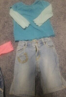 The Childrens Place Capris pants Size 18 Mos Denim jeans Girls w/ top lot outfit