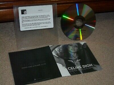 """Celine Dion """"Water & A Flame"""" **Rare Promo** (Cd Single)"""