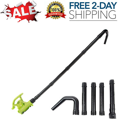 Universal Gutter Cleaning Blower Attachment Tubes Debris Leaf Dirt Cleaner Kit